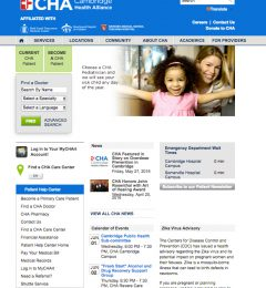Final challiance.org home page redesign.