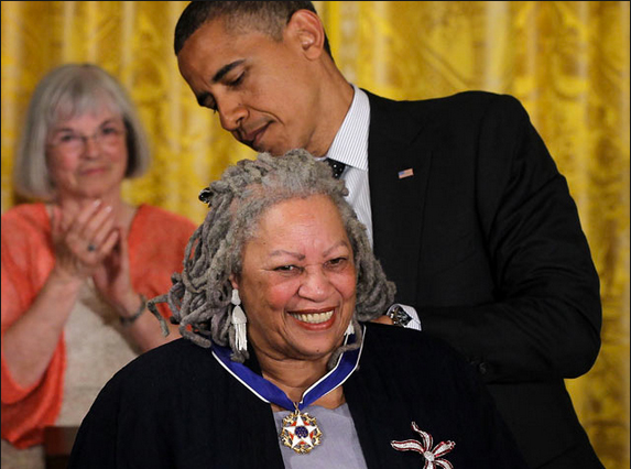 Dr. Toni Morrison Receives The Presidential Medal Of Freedom from President Barack Obama, Washington, D.C., May 29, 2012. Photo courtesy of the White House.